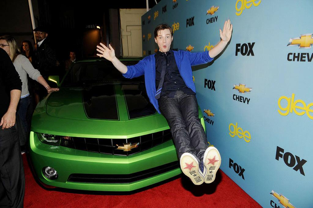 """<a href=""""/chris-colfer/contributor/2427769"""">Chris Colfer</a> (""""Kurt Hummel"""") at Fox's <a href=""""/glee/show/44113"""">""""Glee""""</a> Spring Premiere Soiree at Chateau Marmont on April 12, 2010 in Los Angeles, California."""