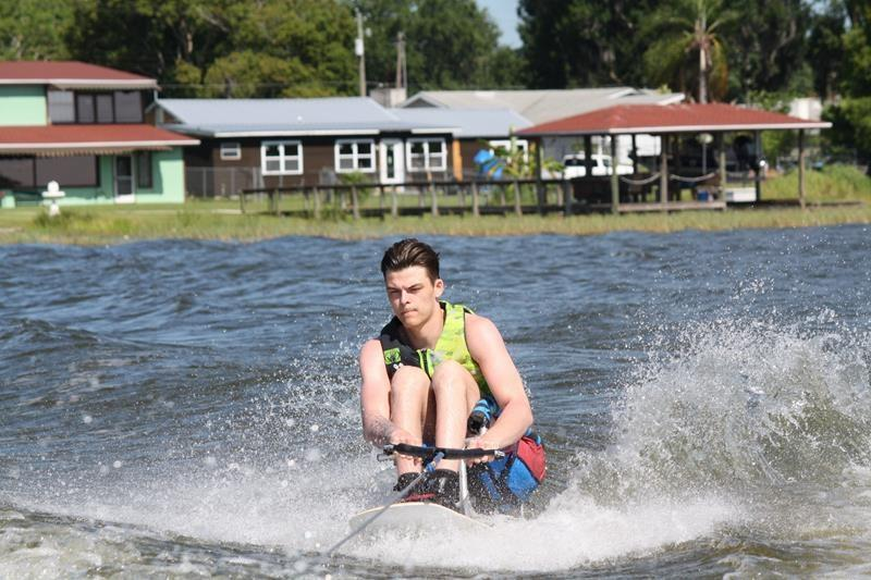 'I've fallen in love': Paralyzed Bronco player finds passion for water sport