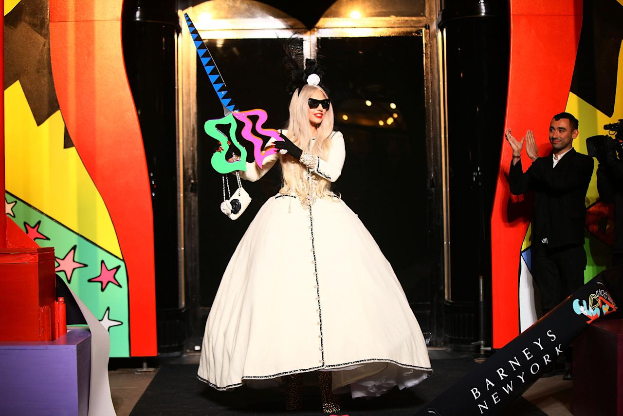 NEW YORK, NY - NOVEMBER 21:  Lady Gaga attends Gaga's Workshop Ribbon Cutting at Barneys New York on November 21, 2011 in New York City.  (Photo by Neilson Barnard/Getty Images for Barneys New York)