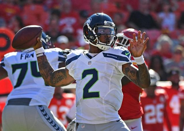 Quarterback Trevone Boykin of the Seattle Seahawks was arrested on misdemeanor charges of public intoxication and marijuana possession and being held in the Dallas County Jail (AFP Photo/Peter Aiken)