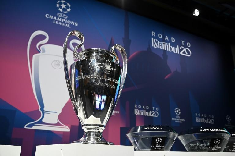 """The Champions League trophy -- UEFA has confirmed that all matches in European competitions will be played behind closed doors """"until further notice"""""""