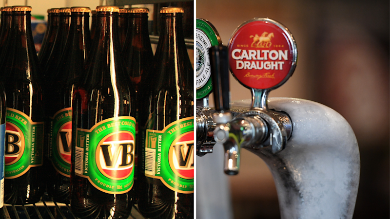 Carlton Draught and VB have been sold to Asahi. Images: AAP