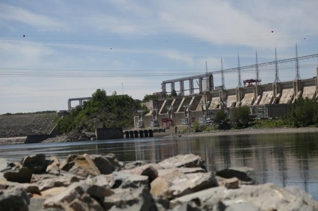 Construction on the dam between Fredericton and Mactaquac Provincial Park was delayed until mid-August and started last week. (Shane Fowler/CBC - image credit)