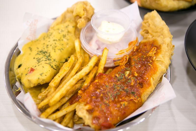 A plate of The Best Of Both Worlds – Fish & Chips