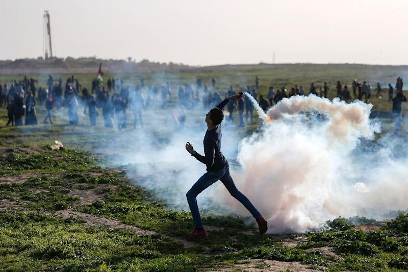 Around 200 Palestinians have been killed since regular mass protests began on the Gaza-Israel border on March 30, 2018. One Israeli soldier has been killed. (AFP Photo/MAHMUD HAMS)