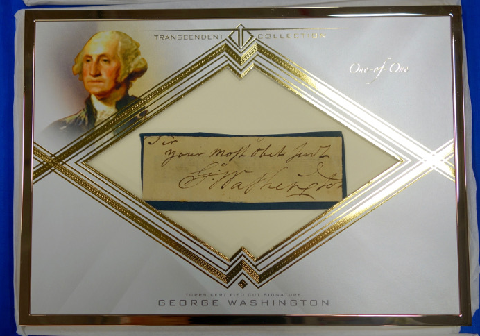 It may not be a baseball card, but George Washington is part of the Topps Transcendent Collection. (Topps.com)