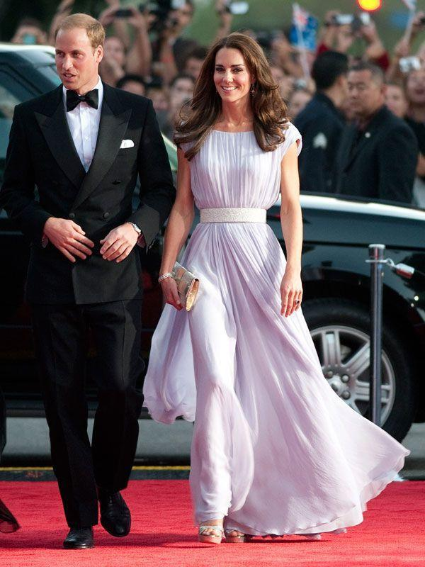 <p>A red carpet star in lavender Alexander McQueen and Jimmy Choo clutch and shoes at the BAFTA Brits to Watch event at the Belasco Theater in Los Angeles</p>