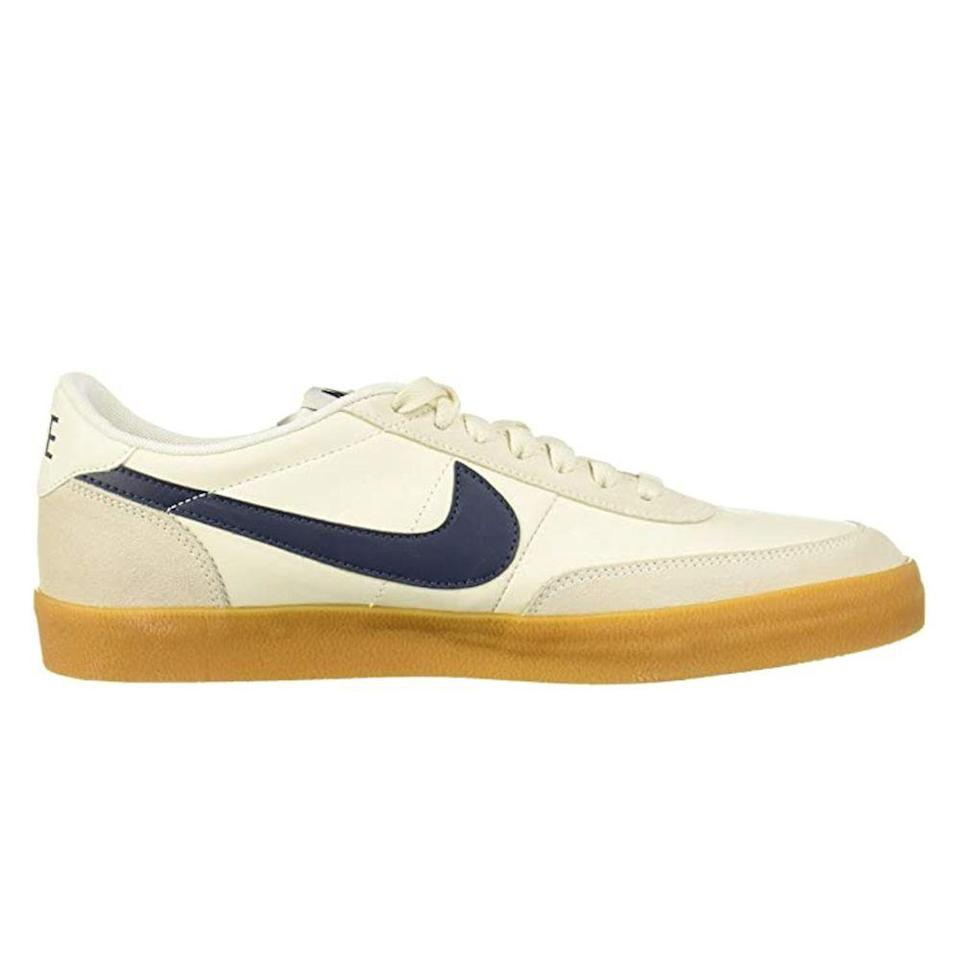 """<p><strong>Nike</strong></p><p>amazon.com</p><p><strong>$229.00</strong></p><p><a href=""""https://www.amazon.com/dp/B00PWMGURS?tag=syn-yahoo-20&ascsubtag=%5Bartid%7C2139.g.36608417%5Bsrc%7Cyahoo-us"""" rel=""""nofollow noopener"""" target=""""_blank"""" data-ylk=""""slk:BUY IT HERE"""" class=""""link rapid-noclick-resp"""">BUY IT HERE</a></p><p>For a bit of vintage flair, we love these low-profile tennis shoes. They're designed with a cool mix of textured leathers for a layered look—pair these sneakers with a simple t-shirt and your favorite jeans to elevate the basics.</p>"""