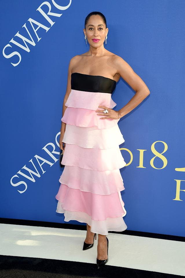 <p>Wearing Carolina Herrera. <em>[Photo: Getty]</em> </p>