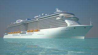 cruise ship new glass-bottomed