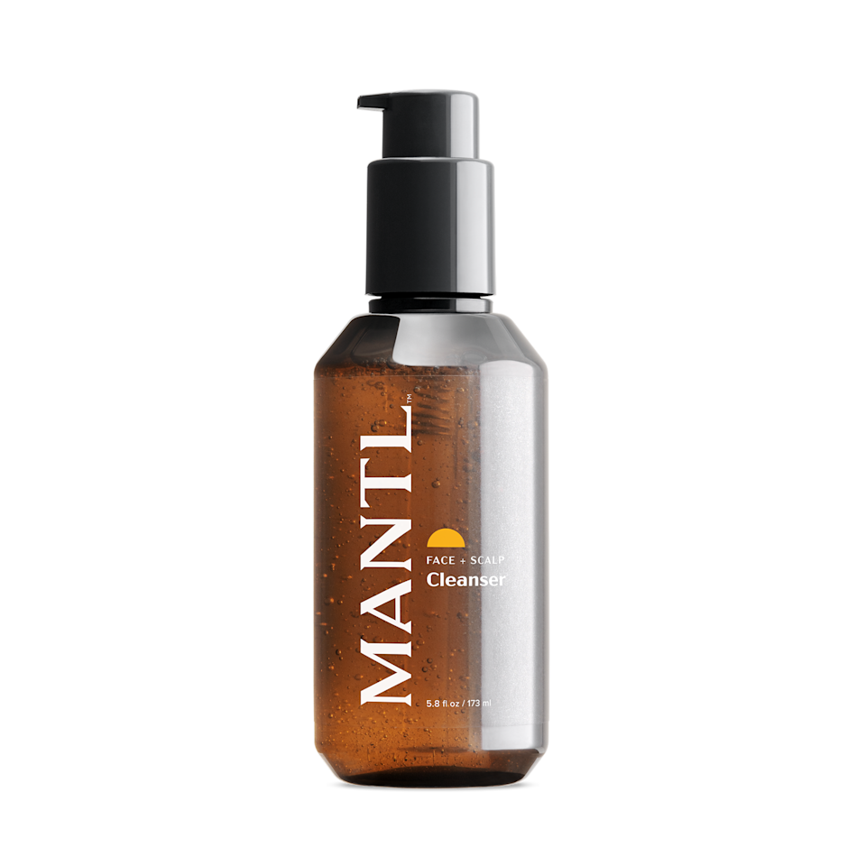 """Cofounded by <em>Queer Eye's</em> Karamo Brown, MANTL makes feel-good, fuss-free skin-care products for the face and scalp — including its Face and Scalp Cleanser with aloe, glycerin, and betaine (a naturally occurring amino acid with conditioning properties). Brown decided to create the brand after his own journey with hair loss, as he wanted to find a way to embolden other bald and balding men out there. That being said, while its products might be marketed toward men, there's no reason why women and gender-nonconforming folks can't use them, too. $10, Nordstrom. <a href=""""https://www.nordstrom.com/brands/mantl--21551"""" rel=""""nofollow noopener"""" target=""""_blank"""" data-ylk=""""slk:Get it now!"""" class=""""link rapid-noclick-resp"""">Get it now!</a>"""