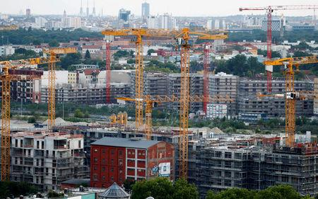 FILE PHOTO: The 'Europacity' construction site is pictured in Berlin, Germany, July 27, 2018. REUTERS/Fabrizio Bensch/File Photo
