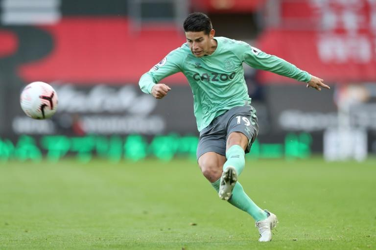 Colombian playmaker James Rodriguez will miss Premier League leaders Everton's away match with Newcastle
