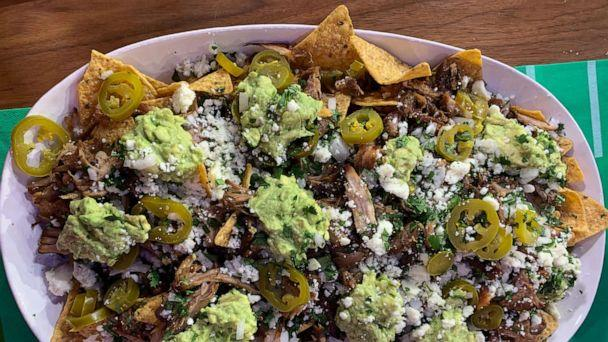 PHOTO: Chef Pati Jinich made her carnitas nachos ahead of Super Bowl Sunday on 'GMA.' (ABC News)