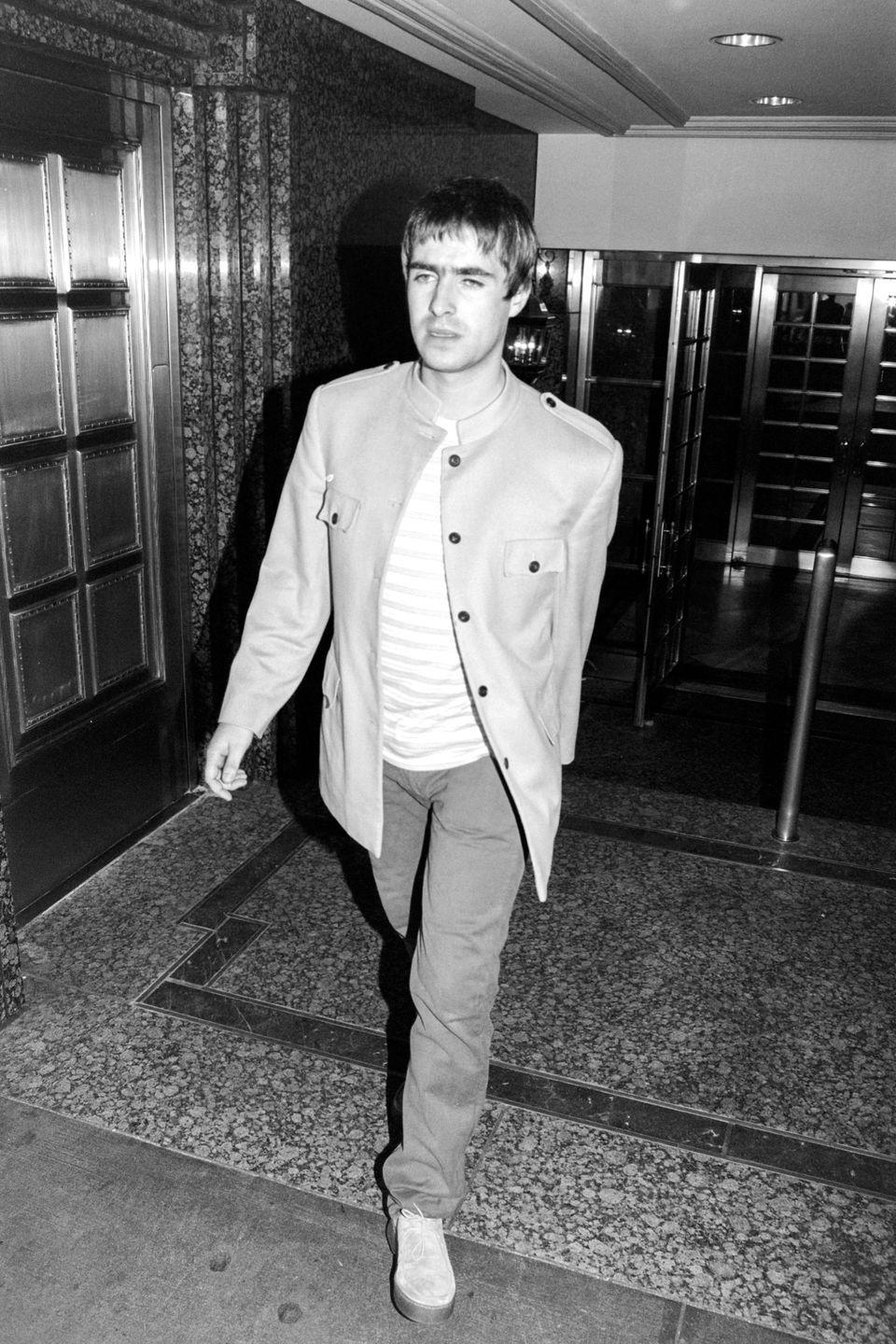 <p>Liam on August 28, 2009, the day Oasis broke up for what is currently the last time. </p>