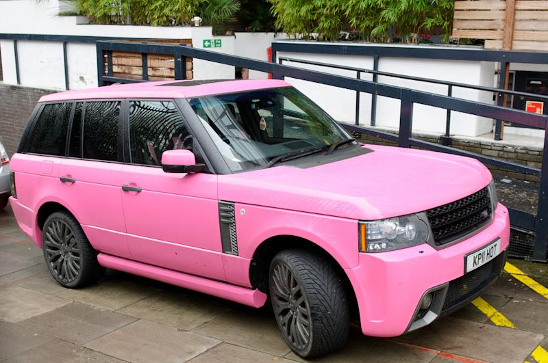 LONDON, ENGLAND - JANUARY 19: Katie Price's car parked in the street on January 19, 2012 in London, England. (Photo by Ben Pruchnie/FilmMagic)