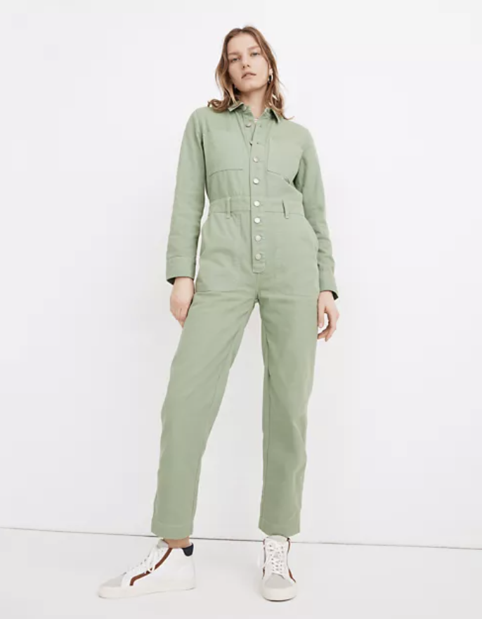best-jumpsuits-Madewell Garment-Dyed Relaxed Coverall Jumpsuit