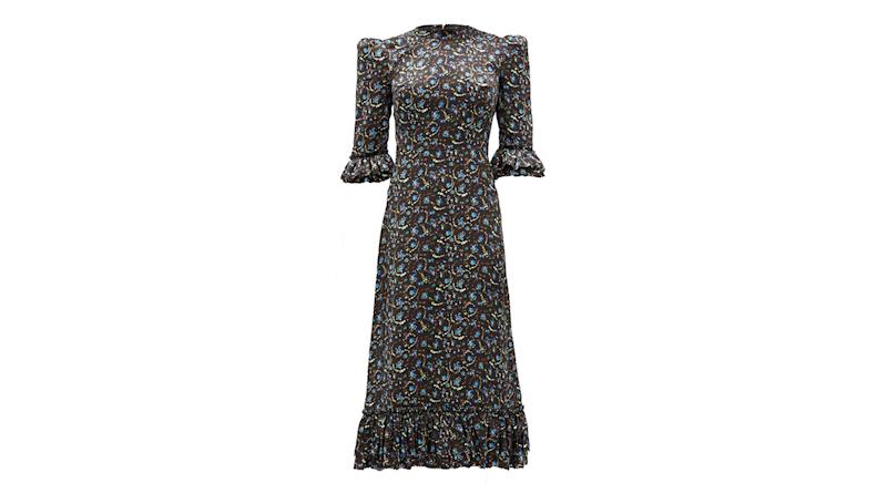 Falconetti Liberty-print silk midi dress