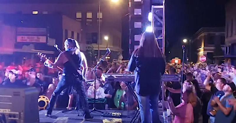 Great White's non-socially distanced concert in Dickinson, N.D. (Photo: YouTube)