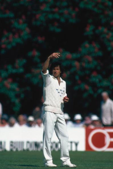 BRIGHTON - JUNE 1988:  Imran Khan of Sussex in action in June 1988 at the Hove Cricket Ground in Brighton, England. (Photo by Adrian Murrell/Getty Images)