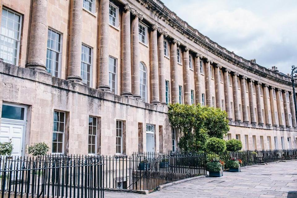 """<p>Bath's <a href=""""https://go.redirectingat.com?id=127X1599956&url=https%3A%2F%2Fwww.booking.com%2Fhotel%2Fgb%2Fthe-royal-crescent.en-gb.html%3Faid%3D2070935%26label%3Dchristmas-hotels&sref=https%3A%2F%2Fwww.countryliving.com%2Fuk%2Ftravel-ideas%2Fstaycation-uk%2Fg37440810%2Fchristmas-hotels-getaways%2F"""" rel=""""nofollow noopener"""" target=""""_blank"""" data-ylk=""""slk:Royal Crescent Hotel"""" class=""""link rapid-noclick-resp"""">Royal Crescent Hotel</a> is just about the most iconic part of this historic city, which inspired Jane Austen, Charles Dickens and Roald Dahl, as well as where Netflix's Bridgerton was filmed. You can live out your own Bridgerton Christmas at this stunning Georgian hotel, complete with a full-size tree decorated in classic style with red and green ribbons, a nutcracker and little drummer boy. </p><p>You can even play 'Hunt the Nutcrackers' in the magical gardens, or take a turn around the ice-rink down at Victoria Park. Bath Christmas Market is certainly not one to miss, with the aroma of festive spices and warm drinks, and a great selection of local crafts.</p><p><a href=""""https://www.countrylivingholidays.com/offers/bath-the-royal-crescent-hotel"""" rel=""""nofollow noopener"""" target=""""_blank"""" data-ylk=""""slk:Read our review of The Royal Crescent Hotel"""" class=""""link rapid-noclick-resp"""">Read our review of The Royal Crescent Hotel</a> </p><p><a class=""""link rapid-noclick-resp"""" href=""""https://go.redirectingat.com?id=127X1599956&url=https%3A%2F%2Fwww.booking.com%2Fhotel%2Fgb%2Fthe-royal-crescent.en-gb.html%3Faid%3D2070935%26label%3Dchristmas-hotels&sref=https%3A%2F%2Fwww.countryliving.com%2Fuk%2Ftravel-ideas%2Fstaycation-uk%2Fg37440810%2Fchristmas-hotels-getaways%2F"""" rel=""""nofollow noopener"""" target=""""_blank"""" data-ylk=""""slk:CHECK AVAILABILITY"""">CHECK AVAILABILITY</a></p>"""