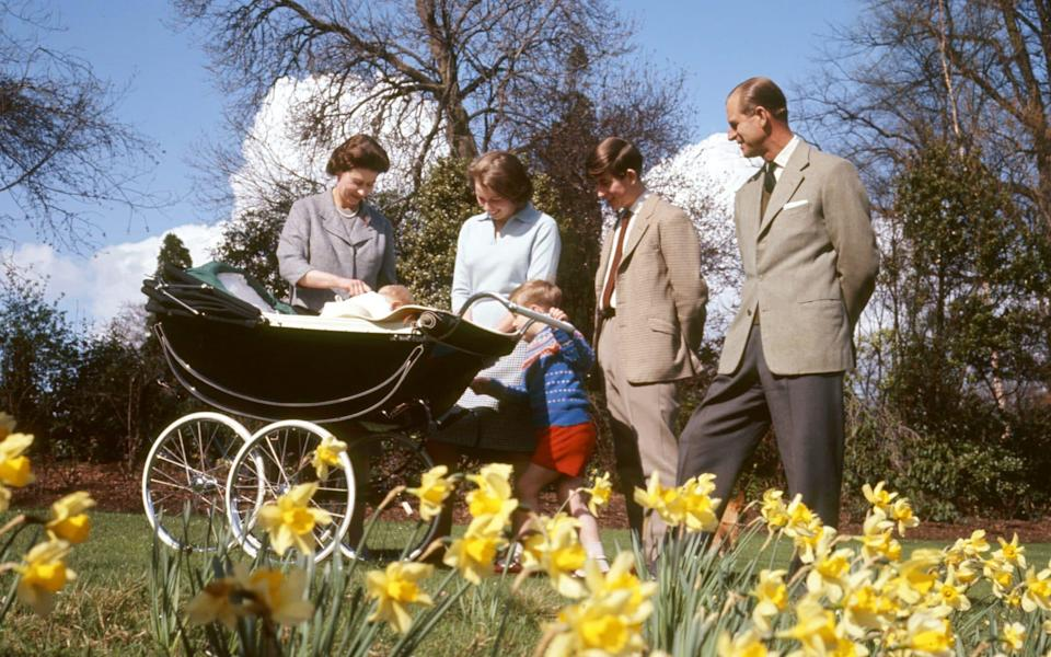 The Royal Family in the gardens of Frogmore House, Windsor, Berkshire, as they celebrate the Queen's 39th birthday in 1965 - PA