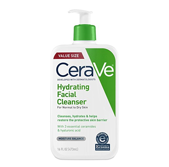 """<p><strong>CeraVe</strong></p><p>amazon.com</p><p><strong>$13.79</strong></p><p><a href=""""https://www.amazon.com/dp/B01MSSDEPK?tag=syn-yahoo-20&ascsubtag=%5Bartid%7C2141.g.25426006%5Bsrc%7Cyahoo-us"""" target=""""_blank"""">Shop Now</a></p><p><a href=""""https://www.schweigerderm.com/providers/tara-rao-m-d/"""" target=""""_blank"""">Tara Rao, MD</a>, of Schweiger Dermatology Group in New York City often recommends this fragrance-free, noncomedogenic face wash to patients who are susceptible to dry, sensitive skin. It packs in three hydrating ceramides<strong> </strong>(aka, fats that are naturally found in your skin to prevent moisture loss), as well as <strong>hyaluronic acid to draw water into the skin</strong> and lock in hydration.  </p>"""