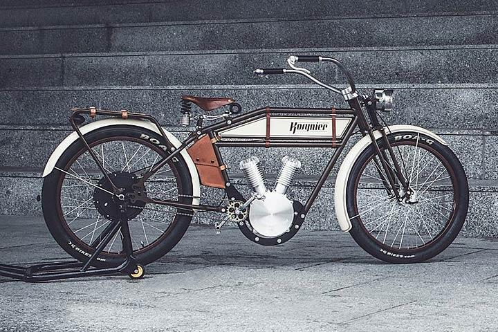 this vintage motorcycle is actually an e bike