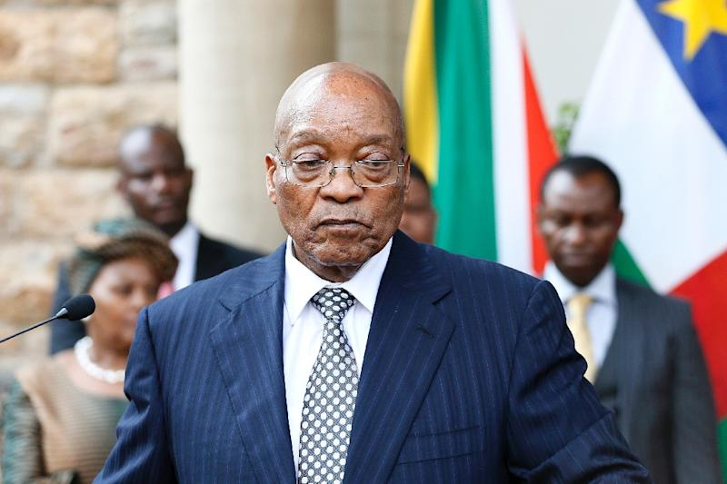 """South African President Jacob Zuma said, """"Be brave and comradely, confront a comrade if you have got problems with (a) comrade, don't use comrades who have died as a platform to perpetuate disunity,"""" he said without mentioning any names"""