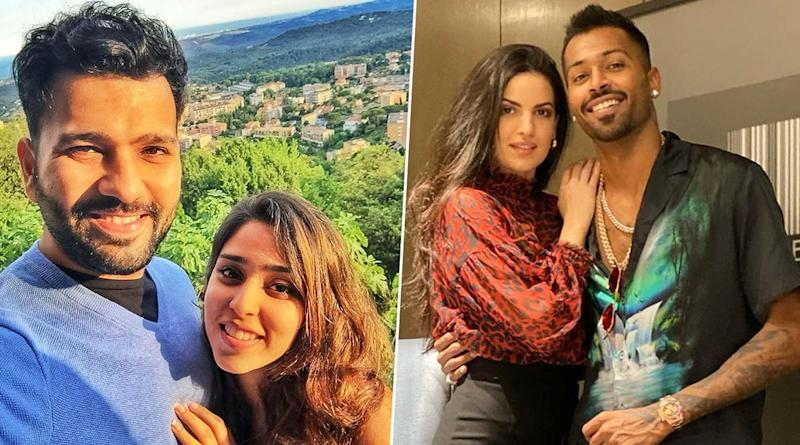 Rohit Sharma, Hardik Pandya Celebrate Valentine's Day 2020 With Their Partners Ritika Sajdeh, Nataša Stanković Respectively (View Pics)