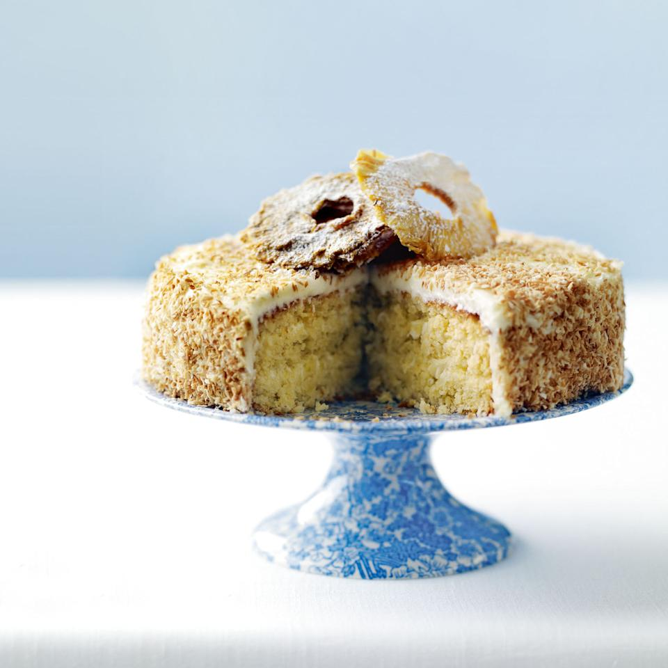 Pina Colada Cake with Coconut Frosting