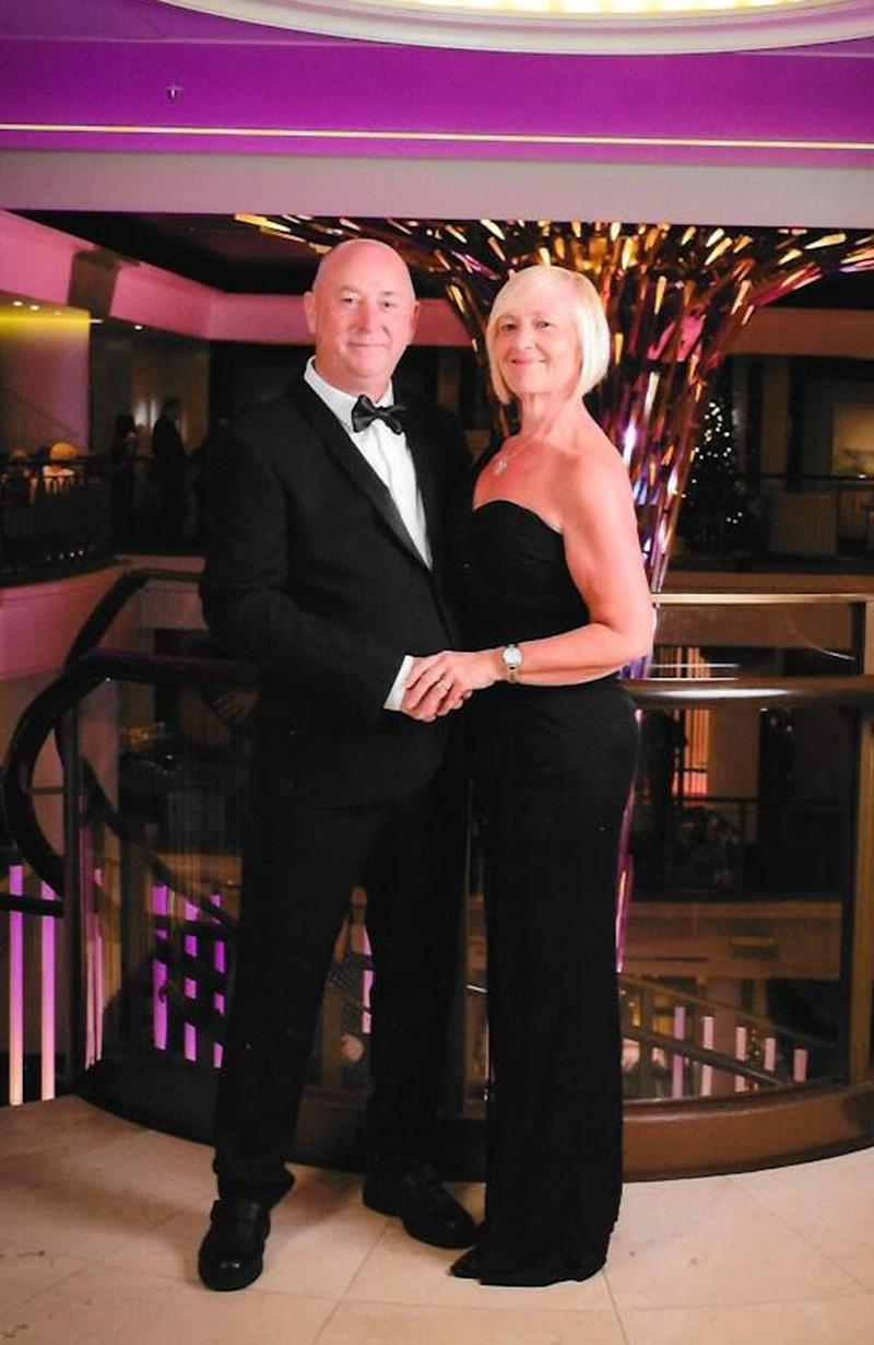 Sharon Gauld and husband Ian show off their weight loss together