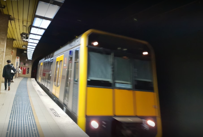 A Sydney train at Redfern station. A woman was abused after apparently asking a group of people to be quiet in a carriage.