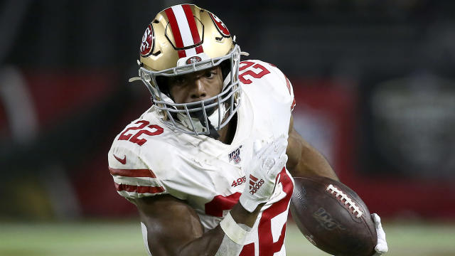 Matt Breida (22) was part of a successful committee at running back for the 49ers. (AP Photo/Ross D. Franklin)