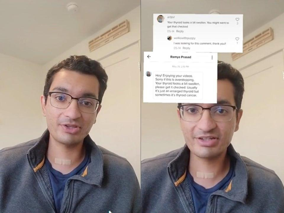 TikTok user reveals he underwent surgery after viewers encouraged him to have thyroid checked for cancer (TikTok / @SeattleTechBro)