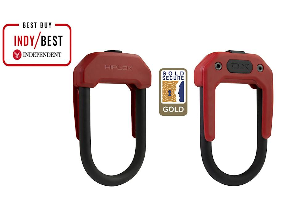 Keep your hardware soft with a reliable bike lock, like this one, whichis big enough to go through your frame or a wheel