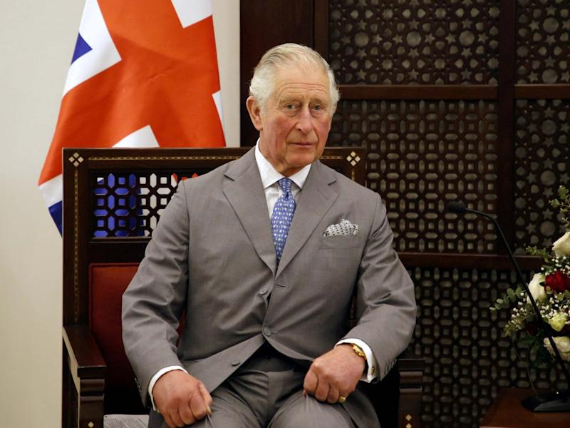 Britain's Prince Charles during a visit in Bethlehem in the Israeli-occupied West Bank: REUTERS