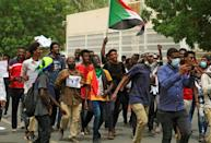 Delays in delivering justice to families of those killed under Sudan's long-time autocrat Omar al-Bashir have sparked criticism of the government (AFP/ASHRAF SHAZLY)