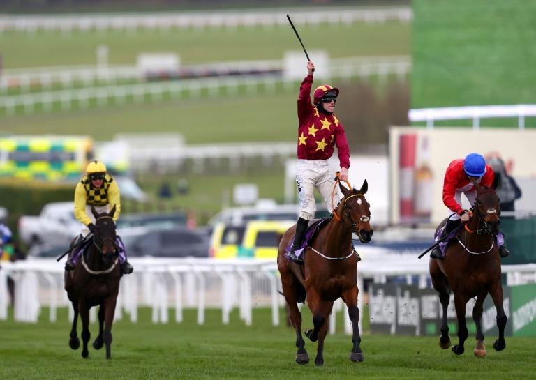 Minella Indo, trained by Henry de Bromhead, wins the 2021 Cheltenham Gold Cup