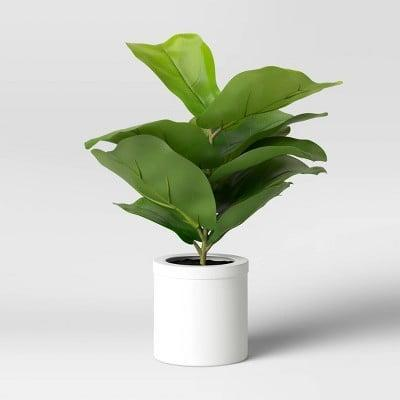 <p>Place this <span>Threshold Artificial Fiddle Leaf Plant in Pot</span> ($15) on your work-from-home desk.</p>