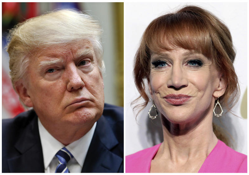 Comedian Kathy Griffin says her career is over after gory Trump photo