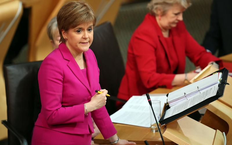 Nicola Sturgeon condemned anti-English racism in the Holyrood chamber - PA
