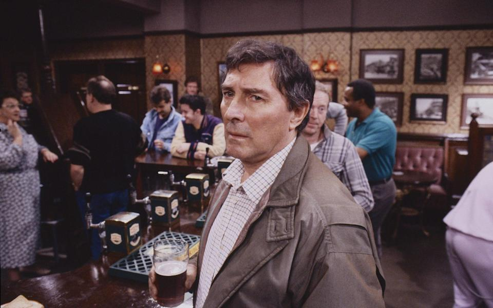 Dastardly: Eden as two-timing Alan Bradley, in the Rovers Return, 1989