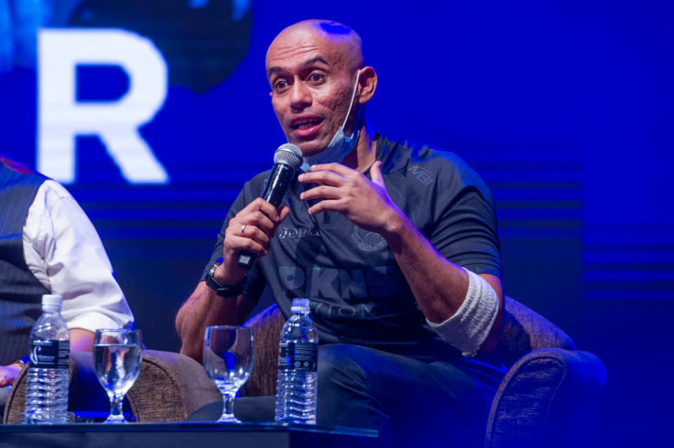 Music producer, actor and singer Altimet during the Temu Anwar session at Flamingo hotel in Ampang, April 1, 2021. — Picture by Shafwan Zaidon