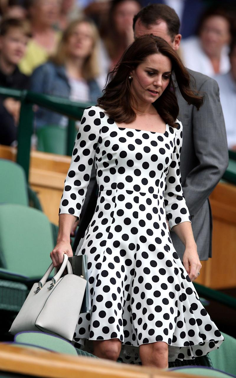 The Duchess of Cambridge at Wimbledon in Dolce and Gabbana - Credit: Getty