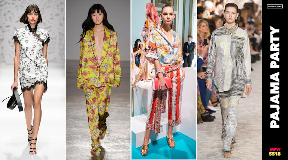 <p><i>Great news for lazy-girl dressers: Pajamas are no longer relegated to the bedroom. This once nighttime apparel can now be worn outdoors — on a date, while shopping, running errands, and, if you so dare, even to the workplace. (Photo: ImaxTree, Art: Quinn Lemmers for Yahoo Lifestyle) </i></p>