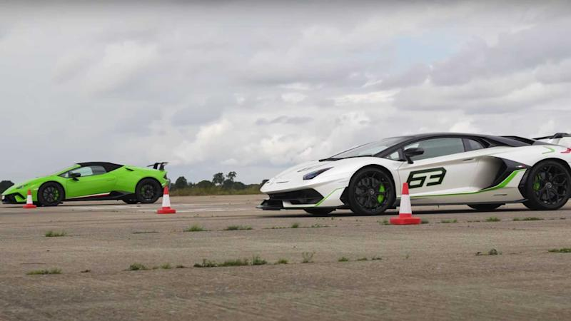 Aventador SVJ vs Huracan Performante Lead