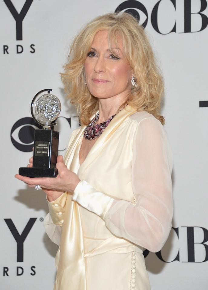 NEW YORK, NY - JUNE 10:  Actress Judith Light poses with her award at the 66th Annual Tony Awards at The Beacon Theatre on June 10, 2012 in New York City.  (Photo by Mike Coppola/Getty Images)