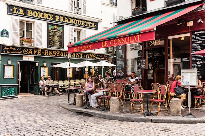 Charming restaurant Le Consulat on the Montmartre hill in Paris, France