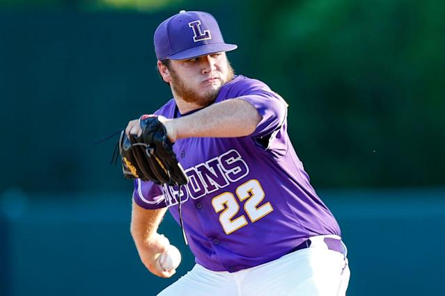"""With the 1,215th and last choice in the draft, the <a class=""""link rapid-noclick-resp"""" href=""""/mlb/teams/chc/"""" data-ylk=""""slk:Chicago Cubs"""">Chicago Cubs</a> selected Jeff Passantino. (Lipscomb University)"""